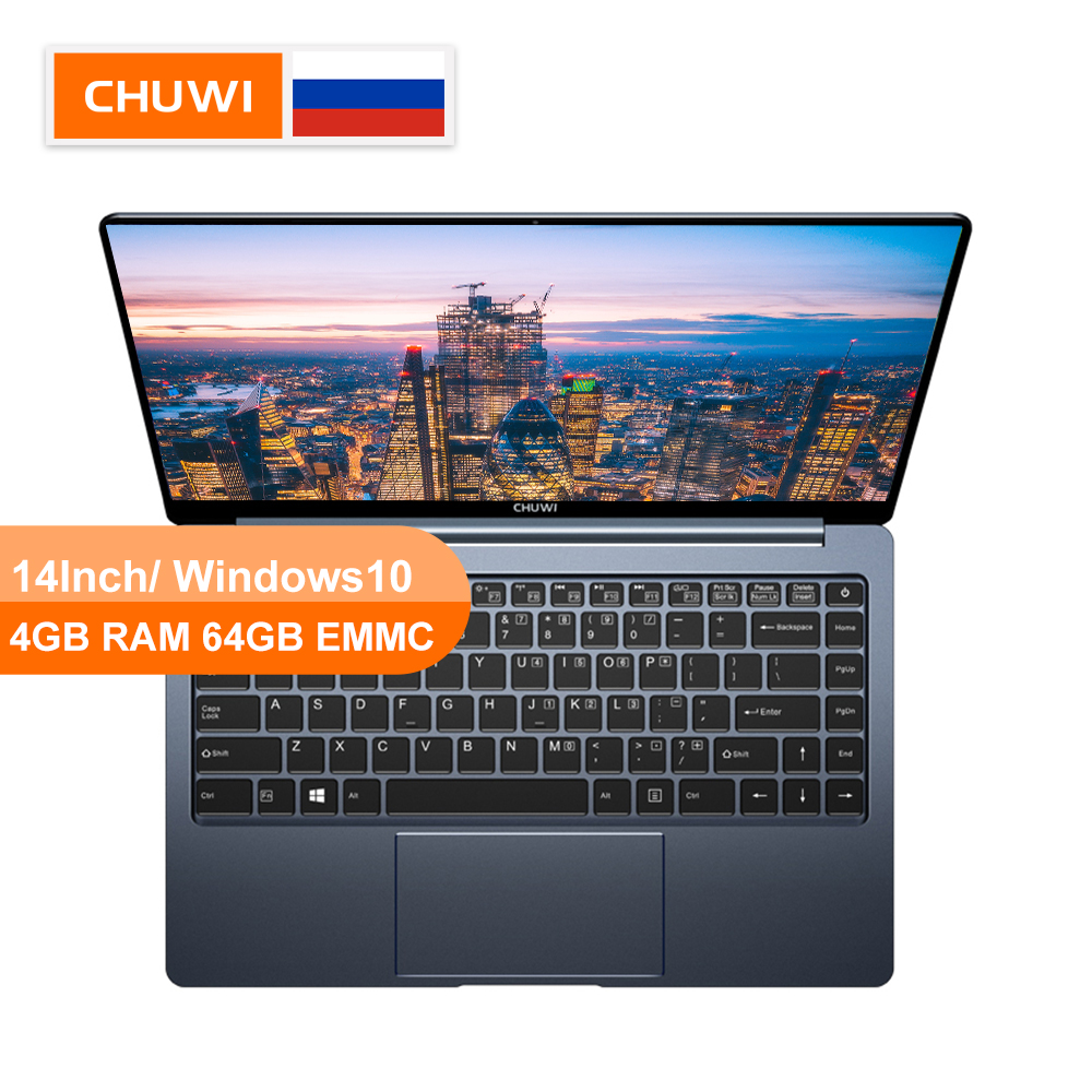 CHUWI LapBook Pro 14 Inch Narrow Bezel FHD Screen  Laptop Windows10 Quad Core Intel Gemini-Lake N4100 8GB RAM 256GB SSD Notebook