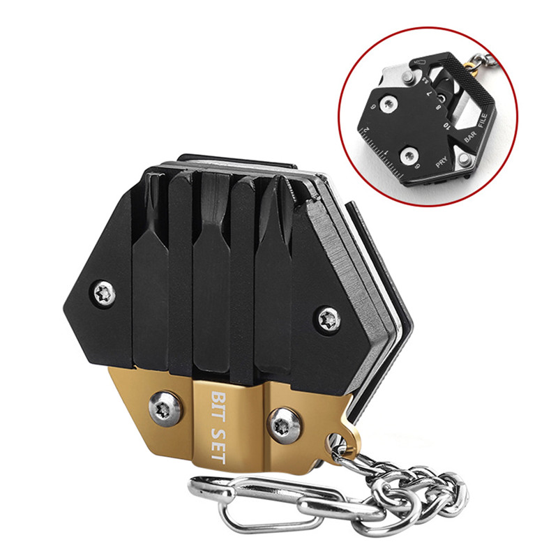 Mini Pocket Folding Knife Multi Function EDC Wrench Hunting Military Self Camping Survival Tool
