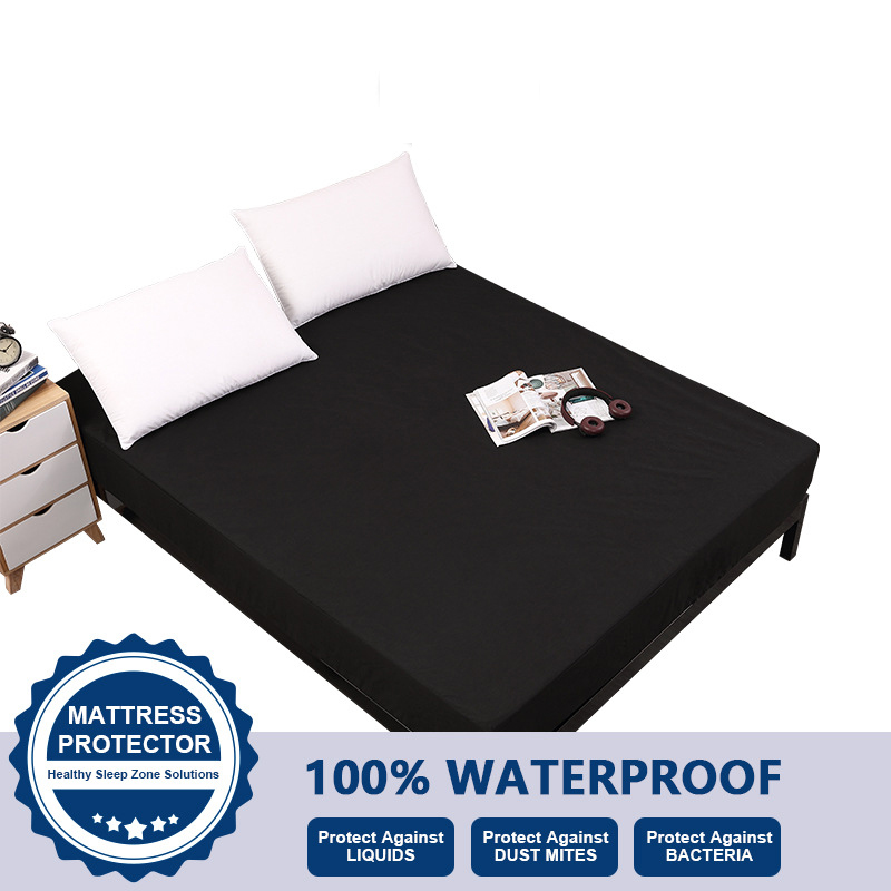 Waterproof Mattress Protector Cover for Bed Solid Color Full King Twin Size Mattress Cover Topper Home Bed Sheets Pad Protector