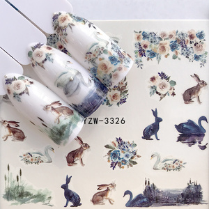 1pc Nail Art Water Transfer Slider Sticker Wraps Snowflake Elk Santa Manicure Nails Designs Christmas Decals New Year Gift(China)