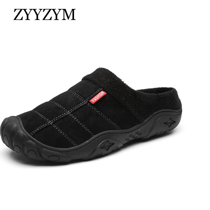 ZYYZYM Men Slippers Autumn Winter Plush Keep Warm Fashion Light Home Indoor Semi Trailer Cotton Slipper Man Large Size EUR 39 46|Slippers| - AliExpress