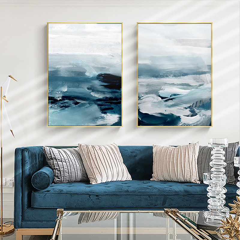 Abstract Ocean Landscape Wall Canvas 27