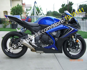 For Suzuki GSX R 600 750 K6 2006 2007 GSXR 600/750 06 07 Blue Black Aftermarket Motorbike Fairing (Injection molding)