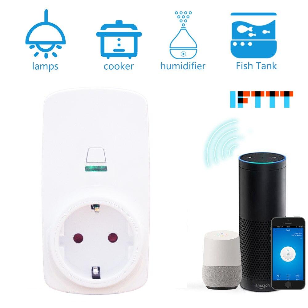 Tonbux FR/EU/US умная Wifi вилка светодиодный световой дисплей 110-250 В Поддержка Google Home/Amazon Alexa управление эхо умная Беспроводная розетка