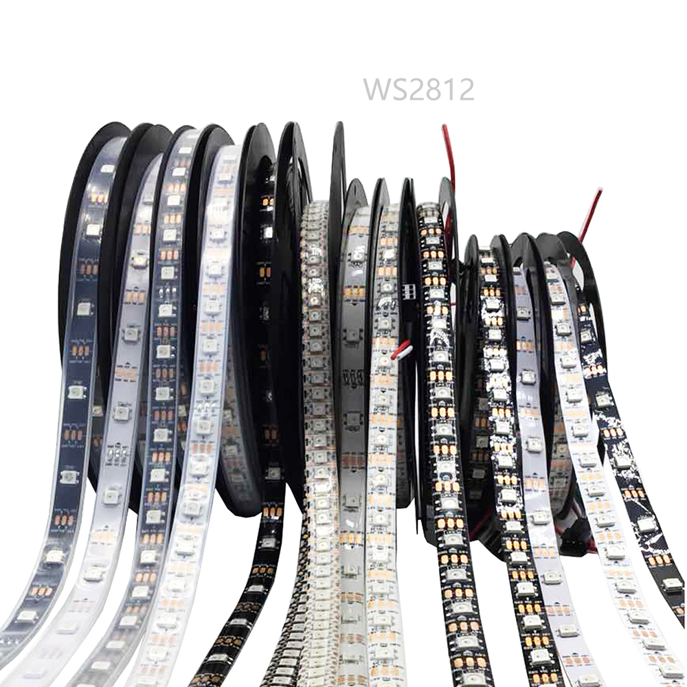 0.5-5m WS2812B WS2812 RGB Led Light Strips Waterproof Individually Addressable Smart RGB Led Light For Home Decoration Christmas