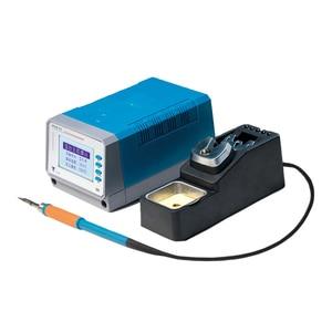 Image 3 - 75W lead free soldering station intelligent Digital temperature control T12 11 mobile phone pcb board welding BGA rework tools