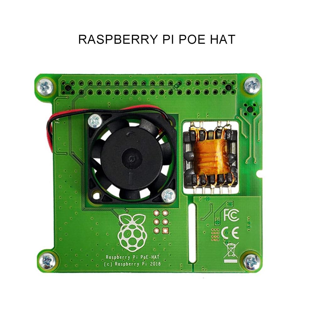 Модуль питания Raspberry Pi 4B/3B + Ethernet PoE, Расширительная плата POE HAT с вентилятором и охлаждением