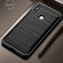 Case Carbon fiber Cover Shockproof Phone Case For Xiaomi Mi 8/Mi Max 3 Case 360 Full Protection Bumper For Mi8 Redmi Note 6 Pro(China)