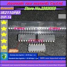 Aoweziic 2019 + % 100 yeni ithal orijinal IR2110PBF IR2110P IR2110 DIP 14 köprü sürücü IC