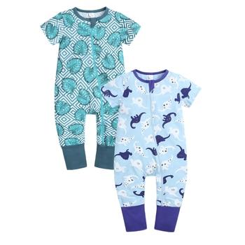 2pcs Baby Boy girl clothes Baby romper Pajamas Cotton Soft  Newborn Jumpsuit Short Sleeve Bodysuit for newborn For newborn baby 1