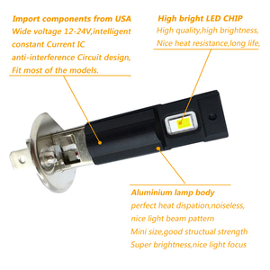 Image 3 - 2Pcs H1 LED Bulb Super Bright Car Fog Lights 12V 24V White Driving Day Running Lamp Auto