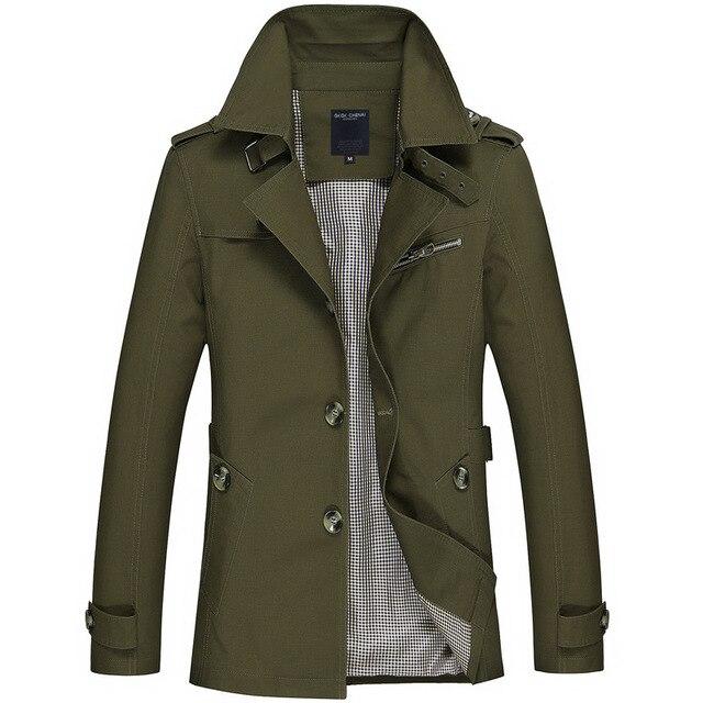New Mens Business Jacket 2021 Fashion Autumn Men Long Cotton Windbreaker Jackets Overcoat Male Casual Winter Trench Outwear Coat 6