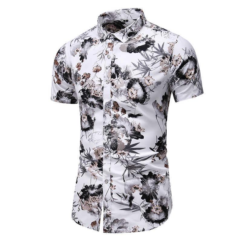 Plus Größe Hawaiian Batik Shirt Herren Surfbrett Longboard Hawaiian Shirt männer Sommer Casual-Taste Unten Kurzarm Strand Shirts