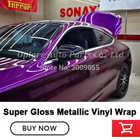 Film d'emballage de peinture métallique en vinyle métallique super brillant de la plus haute qualité - 4