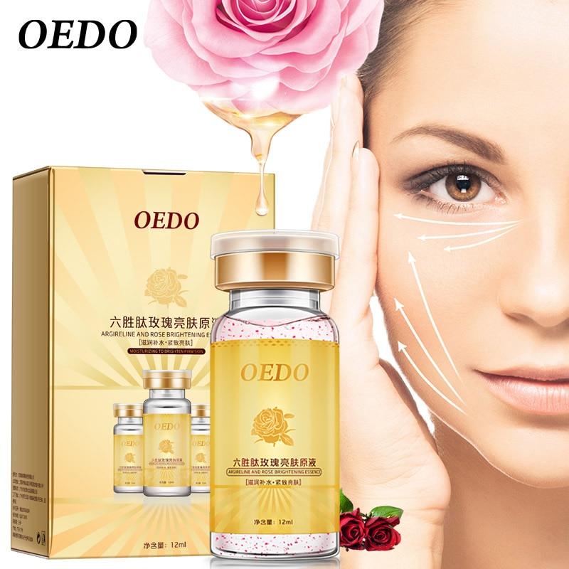 Rose Emulsion Contain Argireline Serum Anti Aging Skin Care Whitening Moisturizing Face Essence Brighten Skin Repair Lotion