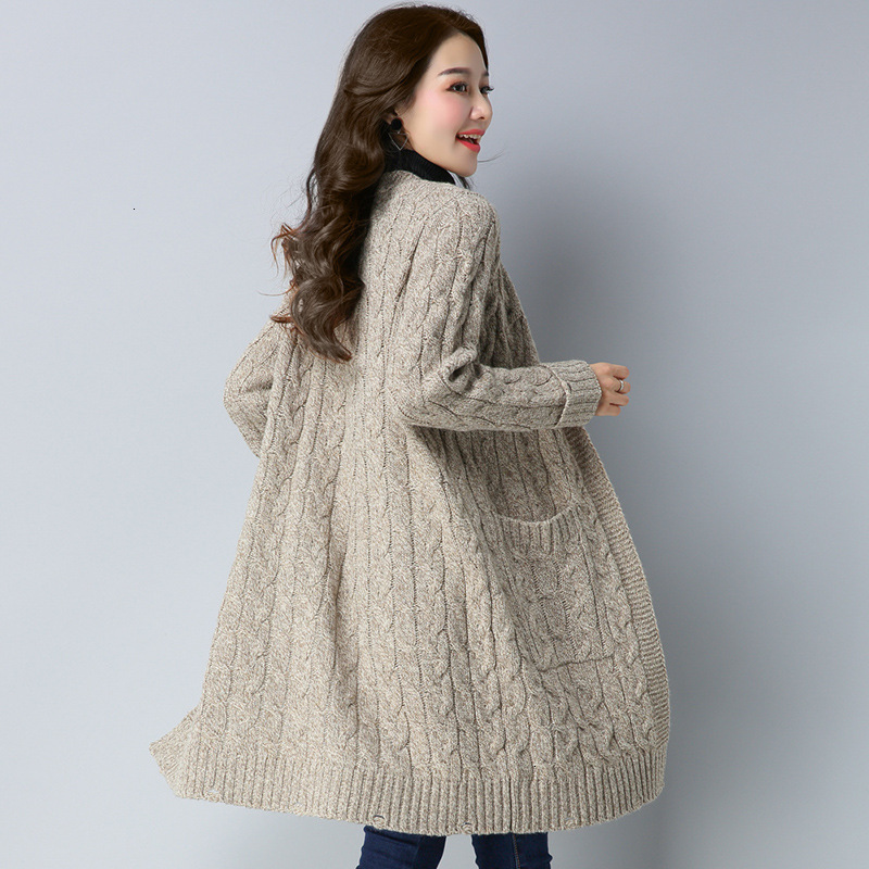 In Long -waisted Waistcoat Female Loose New Shag Line More Winter Sweater Coat