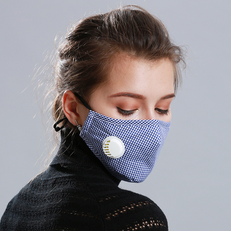 2Pcs Activated Carbon Mouth Mask Respirator Anti PM 2.5 Anti Dust With Exhaust Valve JL
