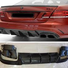 Задний бампер из углеродного волокна, спойлер, диффузор, крышка и выхлопные наконечники для Mercedes Benz W212 E260 E300 E63