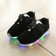 2020 Kids Autumn Toddler Sport Running Baby Shoes Boys Girls LED Luminous Shoes Sneakers Sapato Infantil Kids Light Up Shoes(China)