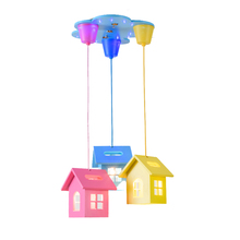 Children Pendant Lights Rainbow Cartoon Personality Bedroom Light Boy Girl Warm Creative Pendant Lamp Lovely Kids Light