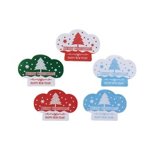 120pcs/pack Green Red Blue MERRY CHRISTMAS Tree Gift Creative Stationery Sealing Stickers