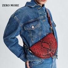 Women Crossbody Bag Fashion Crocodile Semicircle Saddle Bags PU Leather Shoulder Bags for female Handbags designer bolsas