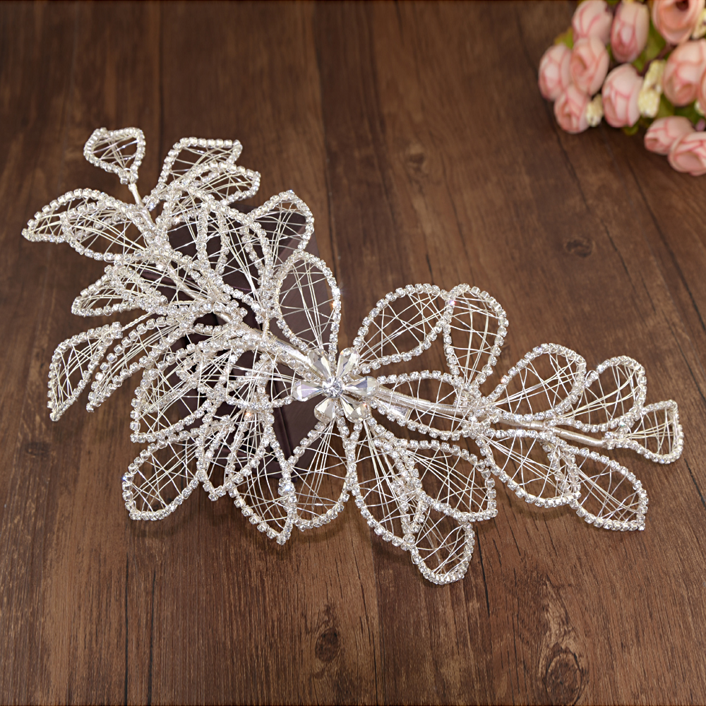 TRiXY H256-S Shinny Wedding Hair Accessories Hair Vine Hair Ornaments Wedding Hair Jewelry Crown Bridal Tiaras Bride Accessories
