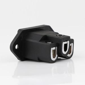 Image 5 - 2pcs FI 06 AC IEC Inlet Socket hi end טהור נחושת/מצופה זהב/רודיום מצופה AC כוח מארז IEC Inlet כוח מפרצון Socket