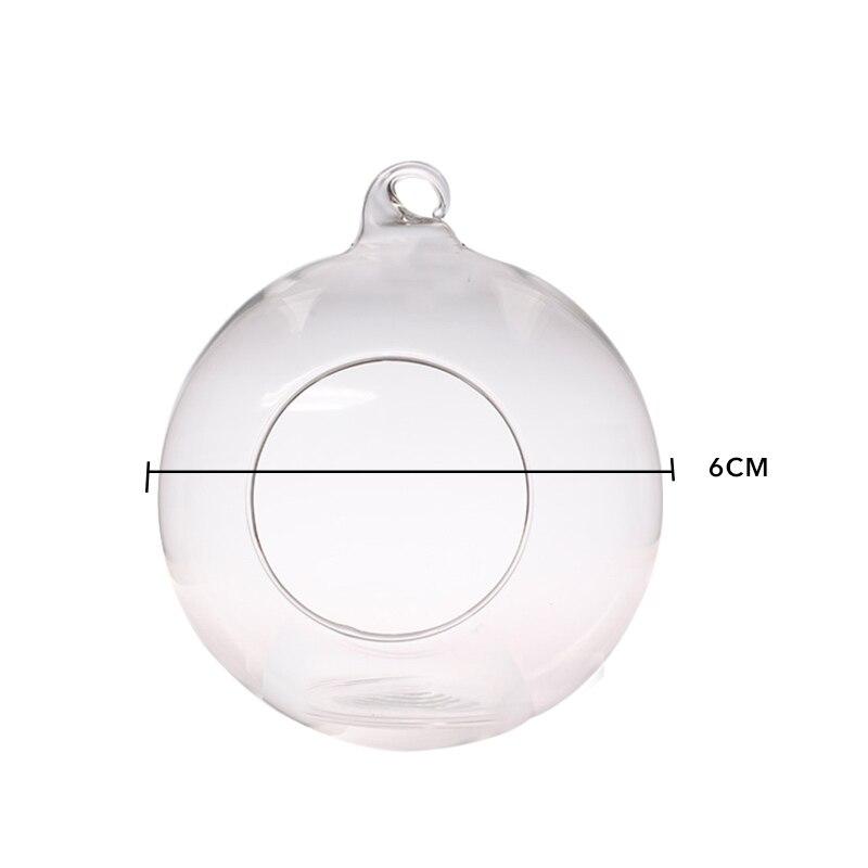 4 размера романтический свадебный ужин декоративный подсвечник бар вечерние домашний декор классический кристалл прозрачное стекло подвесные свечи держатель - Цвет: 6cm