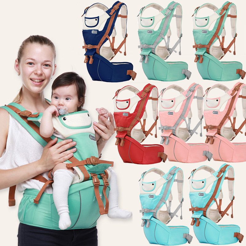 Breathable Ergonomic Baby Carrier Backpack Portable Infant Baby Carrier Kangaroo Hipseat Heaps Baby Sling Carrier Wrap