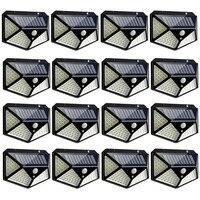 100 Led Solar Licht Sicherheit Outdoor Solar Wand Lampe PIR Motion Sensor Lampe Wasserdichte Solar Licht Für Garten Dekoration