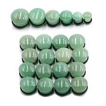 New Arrival Punk Pair of Fashion Green Stone Ear Flesh Helix Plug Tunnels Gauges Expander Stretcher Unisex Body Piercing Jewelry