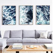 Скандинавский минимализм настенная живопись море волны Холст