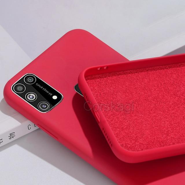 Soft Liquid Silicone Cover Case For Samsung Galaxy M51 M31 M21 M31S S20 FE S10 Lite S10e Note 10 20 A12 A51 A71 A31 A52 A21S A72 4