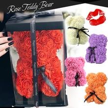 Artificial-Flowers Teddy Roses Wedding-Decoration Bear-Unicorn Anniversary Christmas