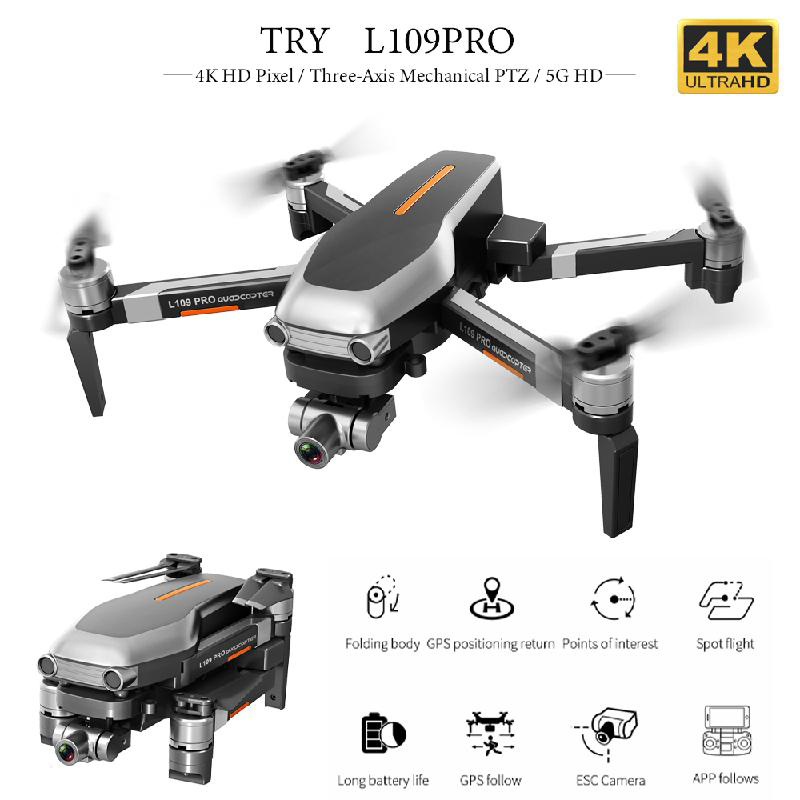 L109PRO Drone with 4K HD Camera Professional Aerial Photograph 5G GPS WIFI FPV Foldable RC Helicopter Quadrocopter UAV Toys Gift