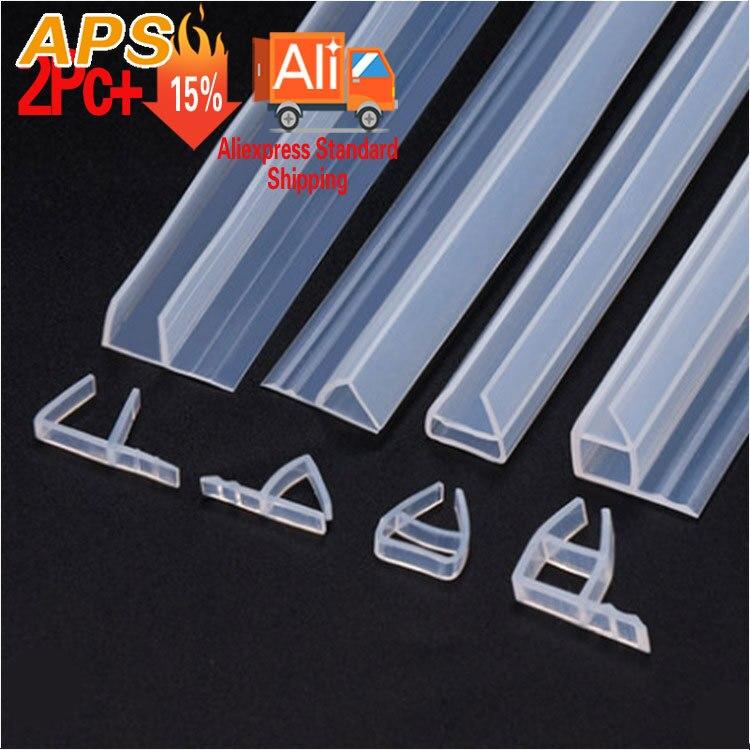 1m 6 8 10 12mm Glass Shower Rubber Seal Silicone Seals Sliding Door Screen Shower Door Window Barn Bathroom Sealing