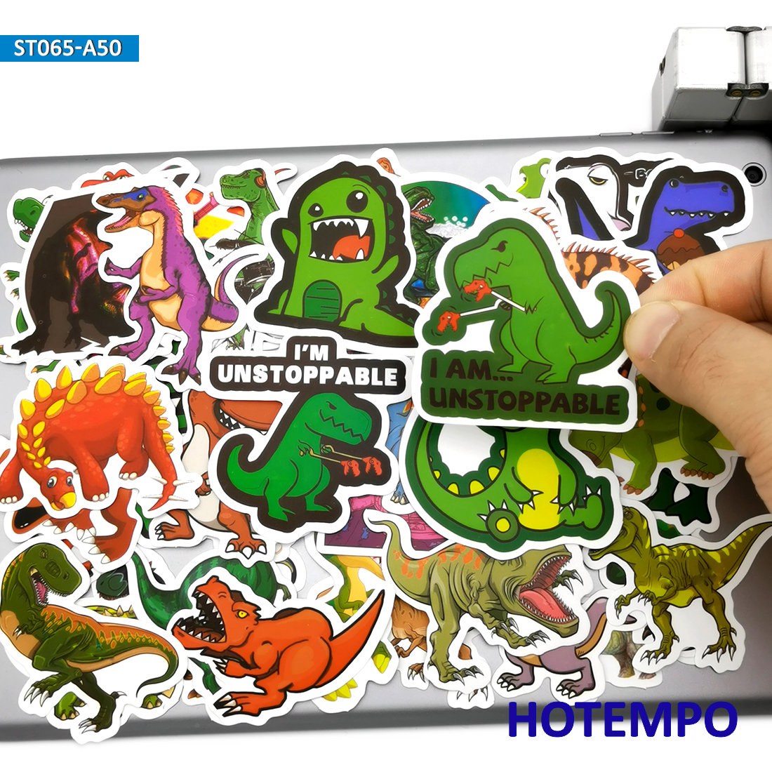 50pcs Cute Anime Dinosaurs Stickers Toy For Children Kids Gift Scrapbooking Stationery Mobile Phone Laptop Cartoon Dino Stickers