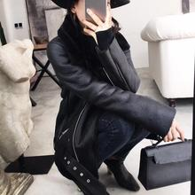 цена на Winter Thick Lapel Faux Leather Coats Women Zipper Faux Fur Sheepskin Coat Faux Leather Jacket Black Pu Jacket