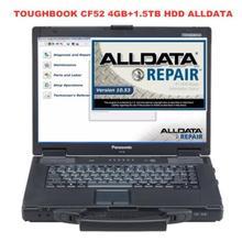 Toughbook CF52 4GB ноутбук 1,5 ТБ HDD WIN7 система 24в1 Авто Ремонт Alldata программное обеспечение V10.53+ Митчелл, по заказу 5 готов к использованию