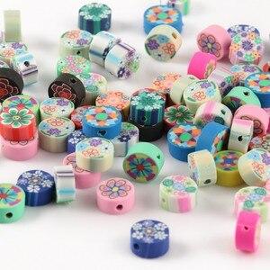 50 stücke Mix Polymer Clay Herz Obst Böhmischen Weichen Keramik Lose Spacer Perlen für Hand Schmuck Machen Diy Armband Halskette
