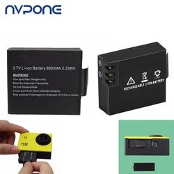 900mAh For SJCAM Sport Camera Battery Rechargeable with 2 Battery Charger for SJCAM SJ4000 SJ5000 SJ6000 BMS Action Cam Bateria