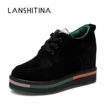 Wedge Sneakers Flats Platform-Shoes 8cm-Heels Women Mujer Increasing Zapatos Autumn