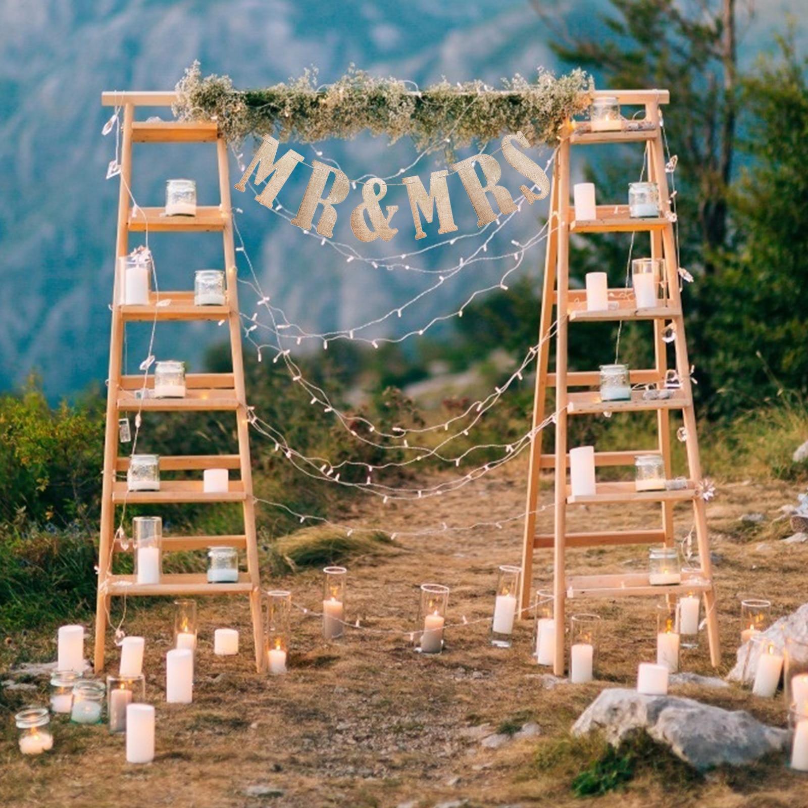 Novo hessian carta A-Z no.0-9 juta tecido rústico serapilheira bunting banners bandeiras barra de doces festa de aniversário do vintage decoração de casamento