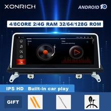 4gb 64gb android 10.0 reprodutor de multimídia de rádio do carro para bmw x5 e70 x6 e71 2007-2013 original ccc cic gps tela de navegação estéreo