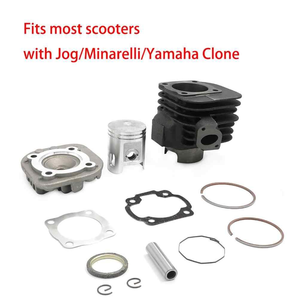 Untuk Motor dengan JOG Minarelli Yamaha Clone Moped Motor 90cc 2 Stroke Big Bore Kit Air Cylinder Cocok untuk 1PE50QMB minarelli
