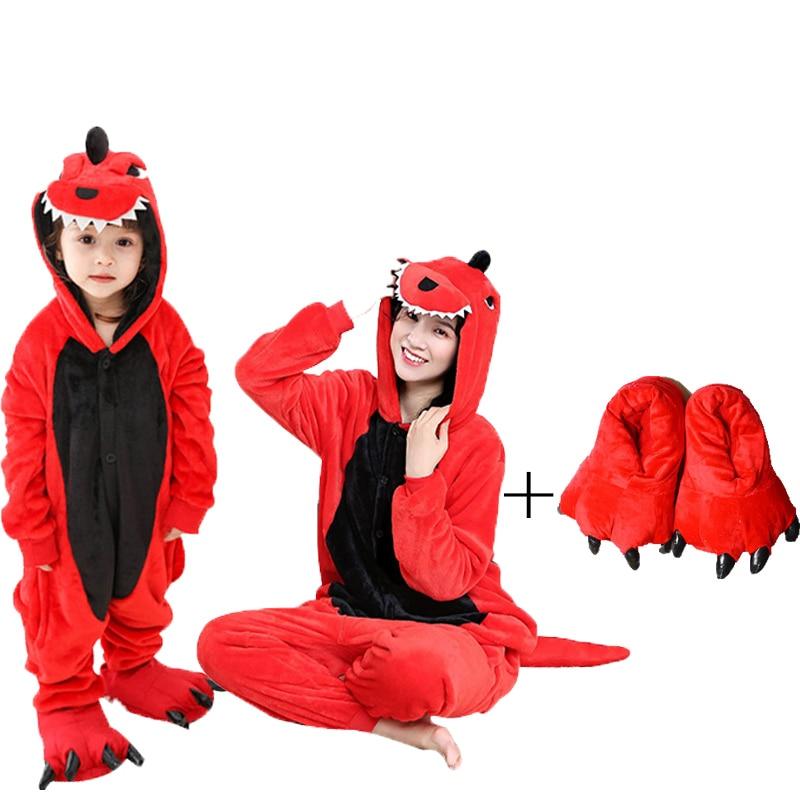Women Unicorn Pajamas Sets Flannel Cute Dinosaur Animal Pajamas Kits Women Winter Unicornio Nightie Sleepwear Homewear