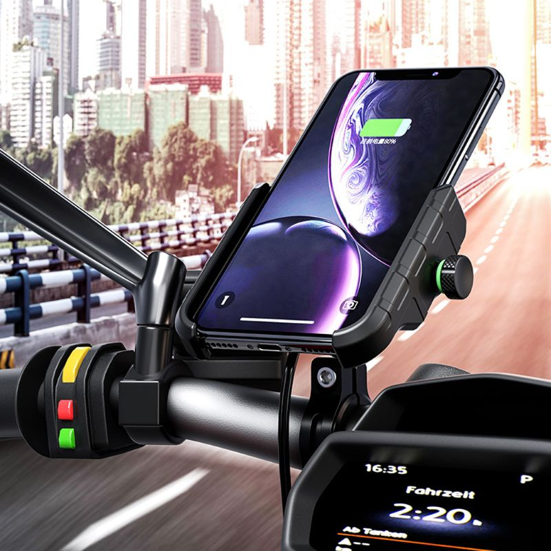 Image 3 - Waterproof 12V Motorcycle Phone Qi Fast Charging Wireless Charger Bracket Holder Mount Stand for iPhone Xs MAX XR X 8 Samsung-in Phone Holders & Stands from Cellphones & Telecommunications