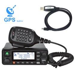 TYT MD-9600 Dual Band 136-174MHz & 400-480Mhz Digital Radio Mobile 50/45/25W di Alta Qualità DMR Radio + 1 cavo di programmazione