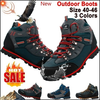 2019 Army Waterproof Men's Outdoor Sports Trekking Hiking Boots  Anti-skid Boots Winter Mountain Climbing Shoes 40-46